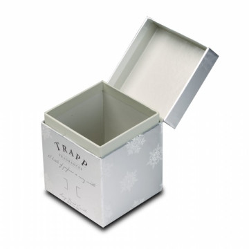 Cool Shiny Silver Paper Candle Box