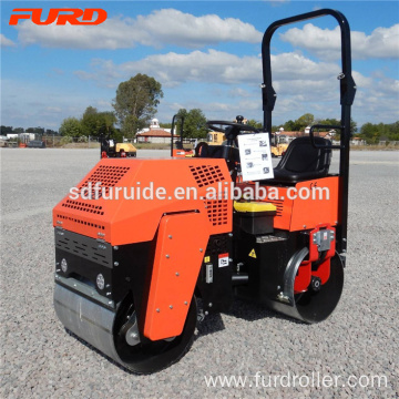 1 Ton Vibrating Compactor Double Drum Road Roller FYL-880