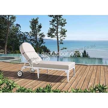 Outdoor Chaise Lounge Chair With Cushion