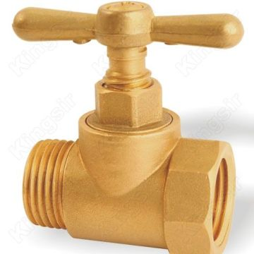 Brass Stop Valve with Threaded Connection