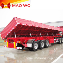 Hot Sale Tri-axle Side Hydraulic Tipping Trailer