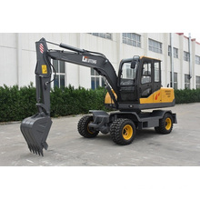 7 ton 360 degree rotation wheel excavator