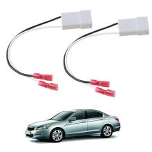 2Pcs Speaker Wire Harness Adapter Plug Connector Wiring Cable Adaptor For HONDA