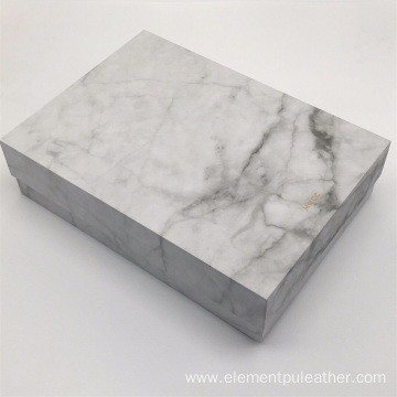 Black White Marble PU Leather North Europe Style