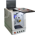 mini Enclosed 30w Military Dog Tag Fiber Laser Labeling Machine