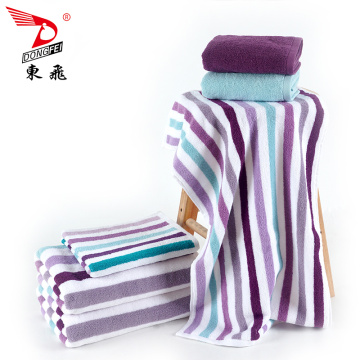 100% Cotton Custom Stripe Jacquard Design Terry Towel