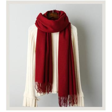Cashmere solid color scarf knitted tassel shawl