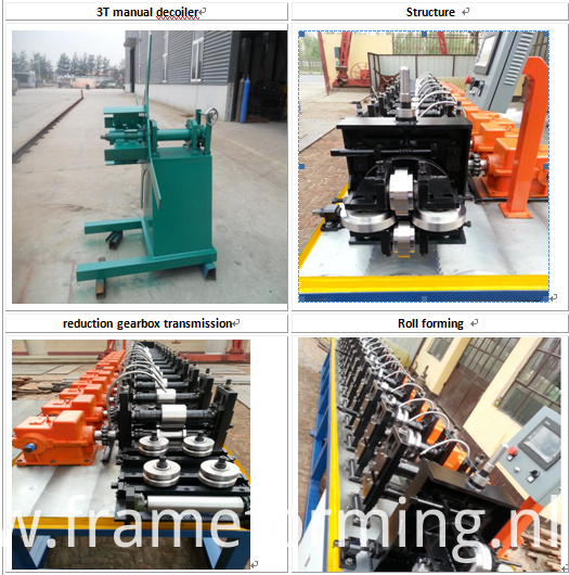 high speed combined drywall channel forming machine