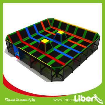 Indoor elastic trampoline court