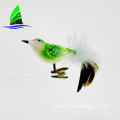 glass bird ornaments animal figurines for Christmas