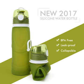 Roll Up Collapsible Silicone Bottle