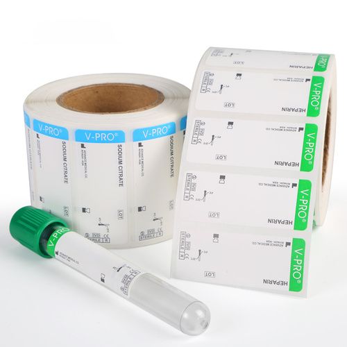 Medical Freezer test tube Label Blood tube Sticker