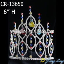 6 Inch Rhinestone Jewelry Diamond Bride Crown