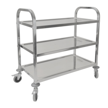 Stainless Steel 304 Three Layers  Dining Trolley