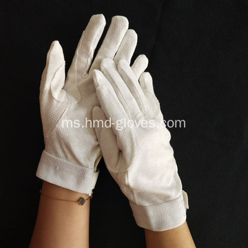 White Deluxe Beaded Grip Sure-Gloves With Closure Velcro