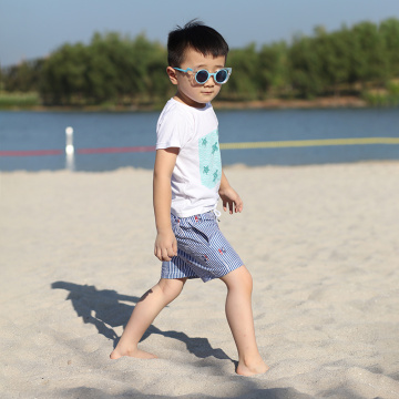 110GSM Full Elastic Waist Brief Kid′s Swimshort