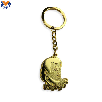 High Quality Zinc Alloy Metal Head Portrait Keychain