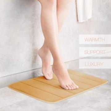 Comfity Memory Foam Bath Mat In Yellow