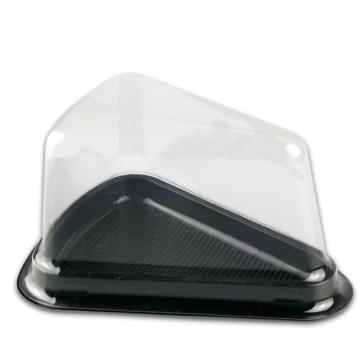 Plastic food container clear triangle PET cake box