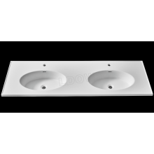 Pure acrylic solid surface embedded sink for cabinet matte white