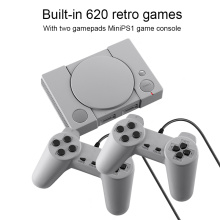 Mini TV Game Case 8 Bit Retro Video Game Console With Two Gamepad Built-In 620 Games Handheld Gaming Player For PS1