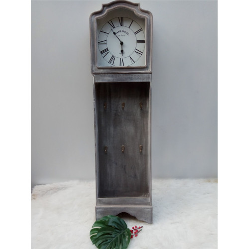 Long Antique Wooden Clock