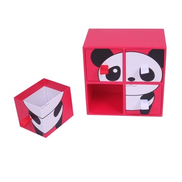 Hot Selling 4 Cases Cardboard Drawer Storage Box