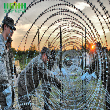 zinc coated galvanized razor wire barbed wire
