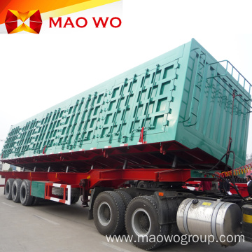 High Quality Hydraulic Cylinder 60t Side Dump Trailer