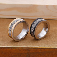 Classic color fight titanium steel men's ring personality domineering single fashion ring