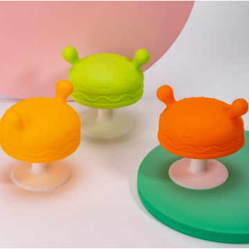 Soft Custom Mushroom Silicone Baby  Teether Toy