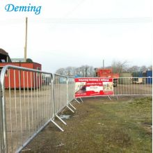 32mm Metal Roadside Pedestrian Temporary Crash Barrier