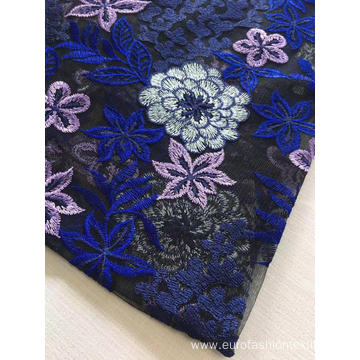 Combine Flower Flat Embroider Fabric for Ladies Garment