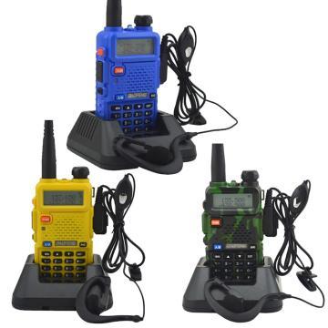 Baofeng-UV-860 Walkie Talkie рации Baofeng-8W 128Ch 136-174/400-520Mhz Keyboard Lock Dualband FM Radio With Earphones баофенг