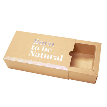 Brown Kraft Paper Iniversal Folding Drawer Gift Box