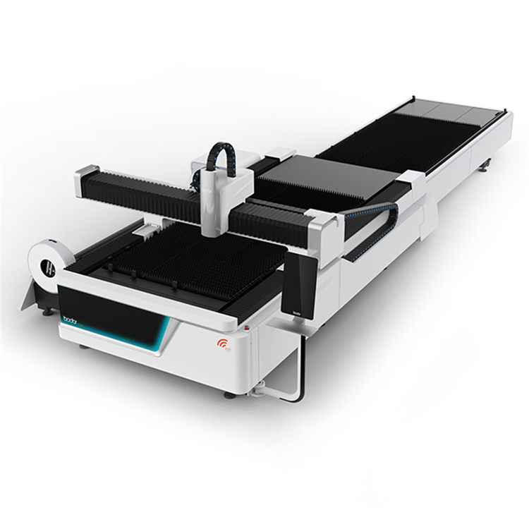 Cnc fiber laser cutting machine with platform
