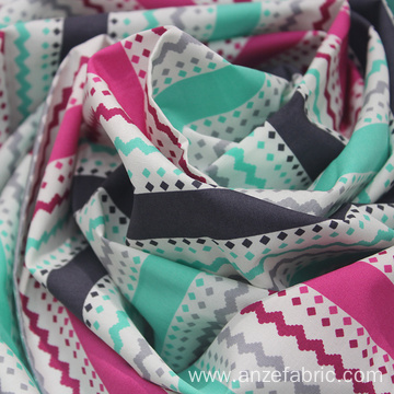 Fashion printed cotton thailand poplin fabric