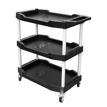 3-Tier Utility Service Tool Tub Cart Trolley