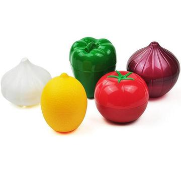 Kitchen Food Crisper Vegetable Containers Onion Garlic Avocado Tomatoes Lemon Green Pepper Keep Food Fresh Storage Box