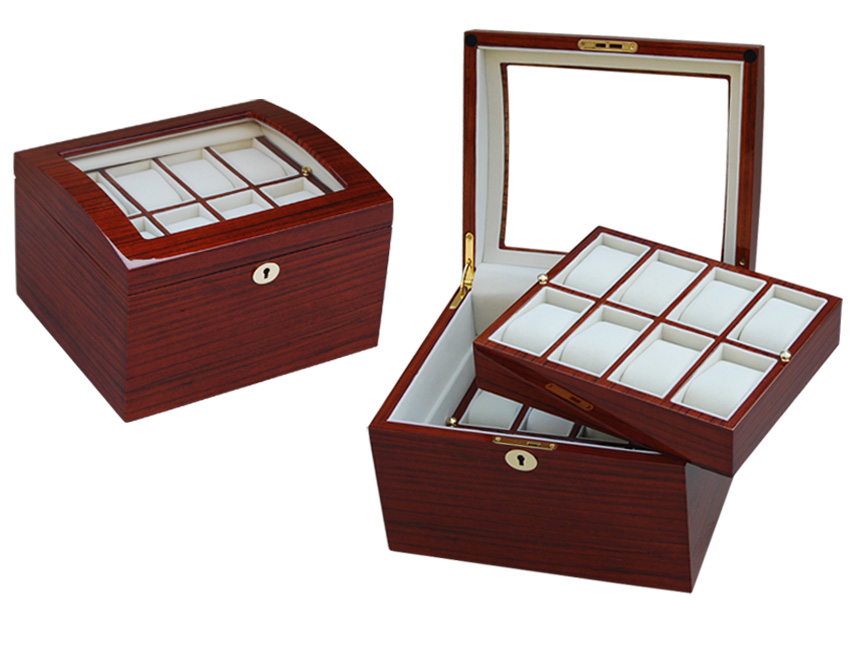 Wb P 3035rh Red Wood Two Layers Watch Box