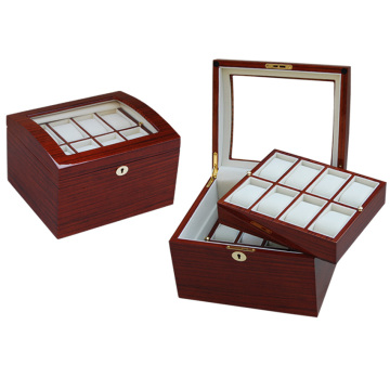 Red Wood Two Layers Watch Box