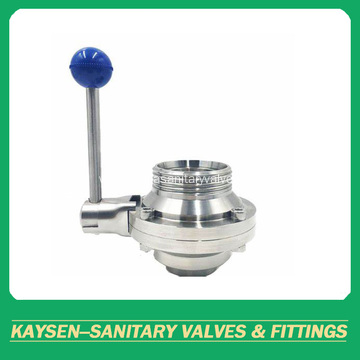 3A Sanitary Threaded Butterfly Type Ball Valve