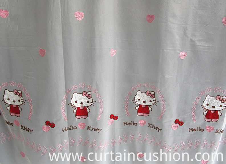 Polyester Embroidered Sheer Voile Curtain