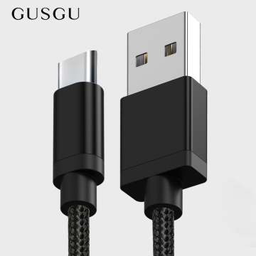GUSGU USB Type-C Cable for Samsung S9 S8 Plus Note 8 Mobile Phone Type c Cable Charger Charging for Xiaomi Mi A1 Mi6 MI5