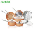 Copper Ceramic India Induction Based Nonstick Cookware Set