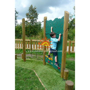 Climbing Walls Wooden Panel Climber Playground Structure