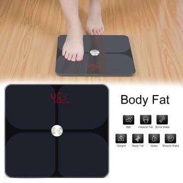 Body Fat Scale Floor Scientific Smart Electronic LED Digital Weight Bathroom Balance Bluetooth For Fitbit Apple Health & Google