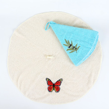 wholesale colorful custom embroidery round towel