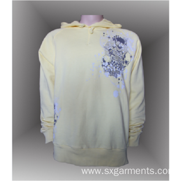 Custom 100% cotton men's pullover