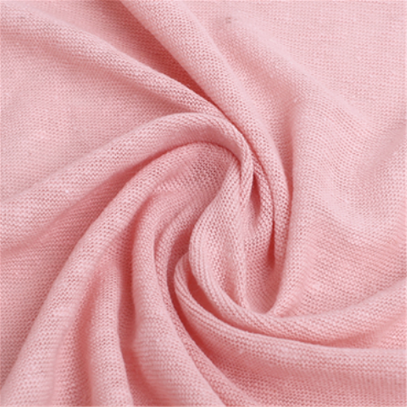 Dyed Knitted Linen Jersey Fabric